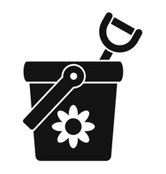 Toy bucket shovel icon simple style vector
