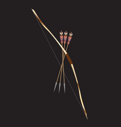 traditional bow and arrow vector image