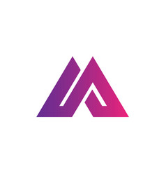 triangle business company logo vector image
