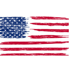 United states national flag with grunge effect vector