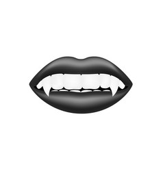 vampire mouth in dark design vector image