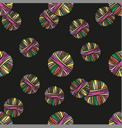 wool tube knitting cartoon seamless pattern vector image