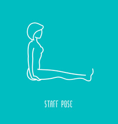 Yoga linear icon vector
