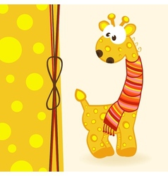giraffe with scarf vector image vector image