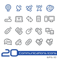 Wireless Communications Outline Series vector image