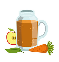 apple and carrot smoothie non-alcoholic fresh vector image