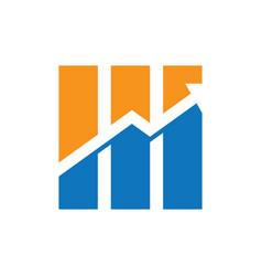 graph arrow business finance logo vector image vector image