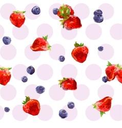 Watercolor berries vector image