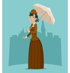 Wealthy Cartoon Victorian Lady Businesswoman vector image vector image