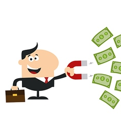 Businessman attracting money vector