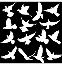 Concept of love or peace Set of silhouettes of vector image vector image