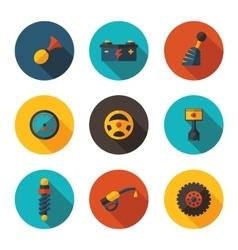 flat icons auto vector image