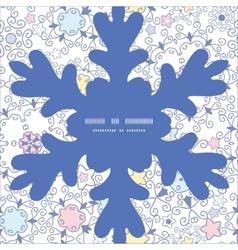 ornamental abstract swirls Christmas snowflake vector image