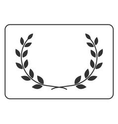 Laurel wreath icon border 14 vector image vector image