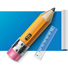 pencil on paper sheet xxl icon vector image vector image