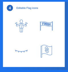 4 flag icons vector