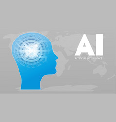artificial intelligence ai futuristic concept vector image