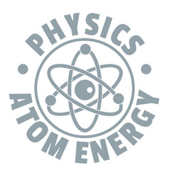 atom energy logo simple gray style vector image