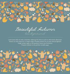 Beautiful autumn doodle background vector