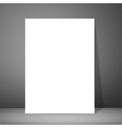 Blank paper poster on wall Mockup presentation vector image