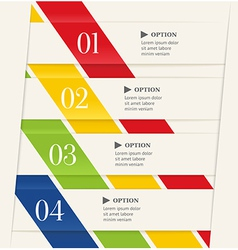 Business steps or options banner vector image