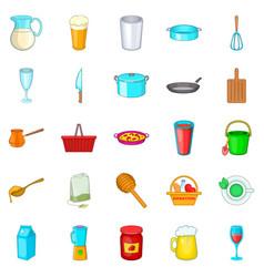 Capacity icons set cartoon style vector