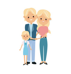 Cartoon blonde couple grandparents and vector