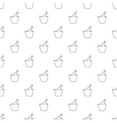 Champagne in bucket pattern seamless vector