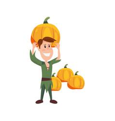 child in halloween character costume vector image