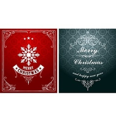 Christmas typographic label for xmas and new year vector
