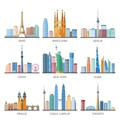 Cities Skylines Icons Set vector
