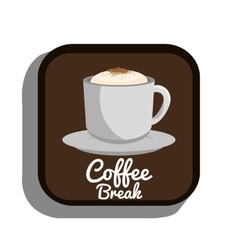 Coffee break cup plate graphic vector