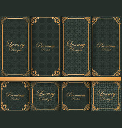 collection of ornate backgrounds with frames vector image
