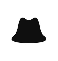 collection of retro hats silhouette top hat vector image