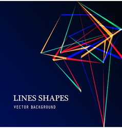Colorful lines shapes abstract isolated on blue da vector