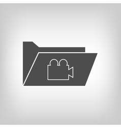Computer folder with camera vector image