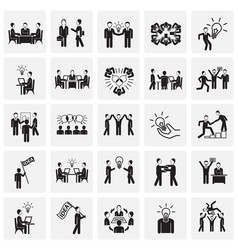 Coworking set on squares background vector