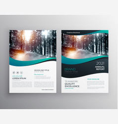 Creative business brochure leaflet design vector