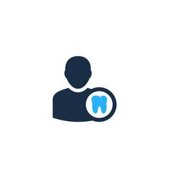 dental user logo icon design vector image