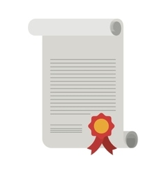 Diploma with seal stamp icon vector