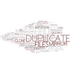 Duplicate word cloud concept vector