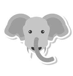 Elephant animal character isolated icon vector