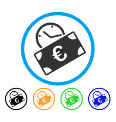 euro recurring payment rounded icon vector image