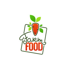 farm food simple logo template emblems and vector image