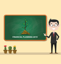 financial planning 2019 new year business vector image