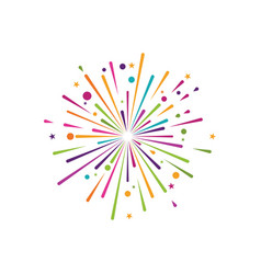 Firework icon vector