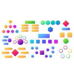 flowchart infographic workflow organization vector image