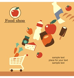 Food shop background retro vector