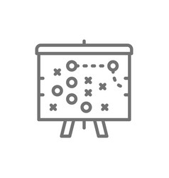 football game plan scheme tactic line icon vector image