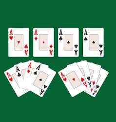 four aces set vector image